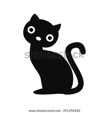 Cat  icon, cat , cat shadow, Cat