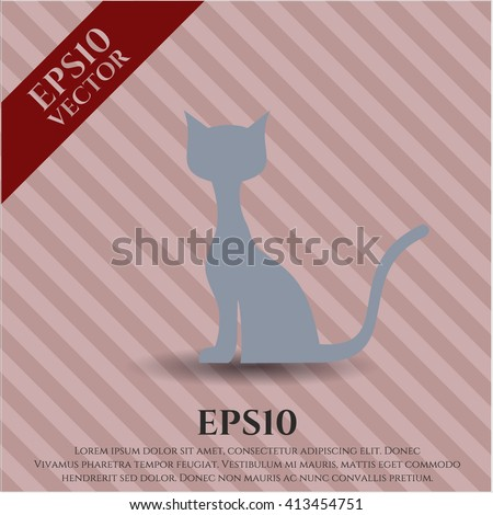 Cat icon vector illustration