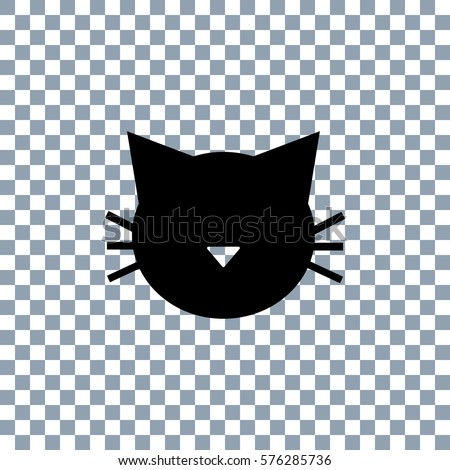 cat icon vector on transparent