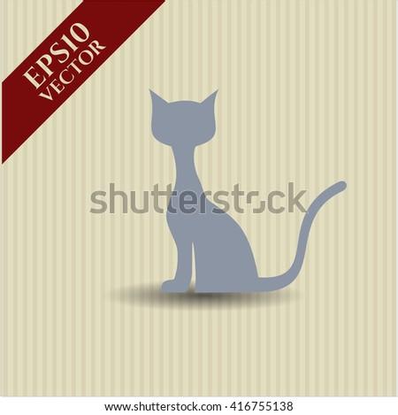 cat icon vector symbol flat eps jpg app web concept website