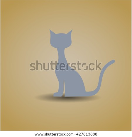 cat icon vector symbol flat eps jpg app web concept website