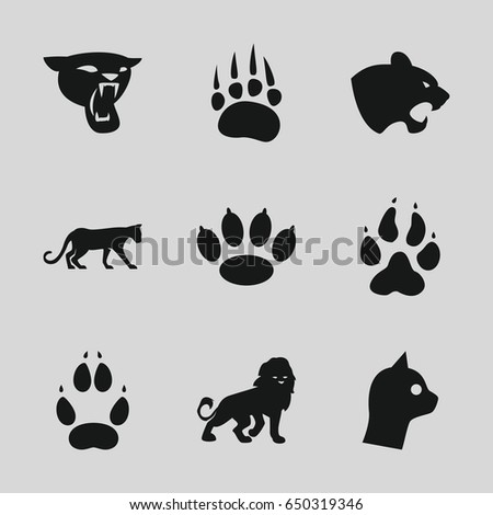 cat icons set set of 9 cat