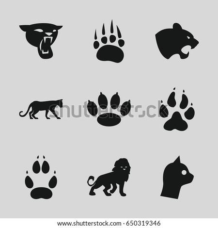 cat icons set set of 9 cat