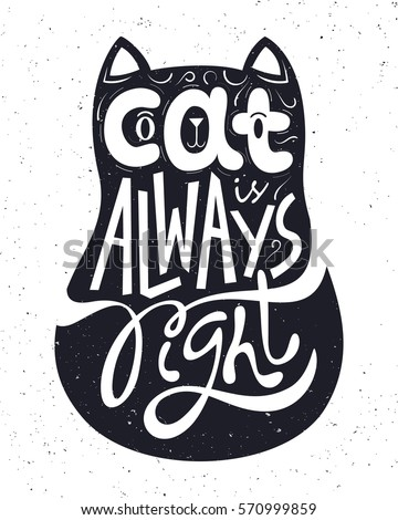 cat is always right hand