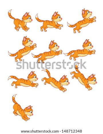 Cat Jumping Animation Set