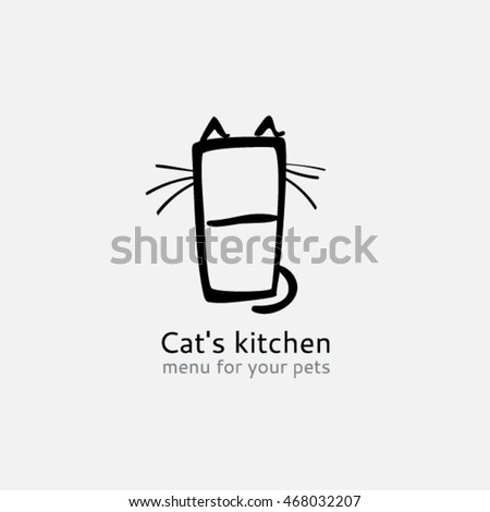 cat logo template cat's