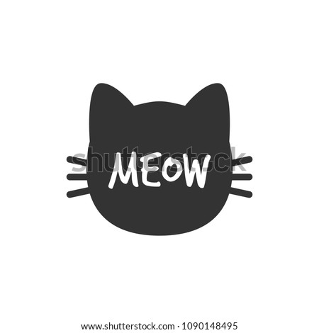 cat meow cat head silhouette