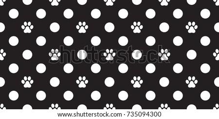 Cat Paw Dog Paw foot print kitten puppy vector Seamless Pattern wallpaper background