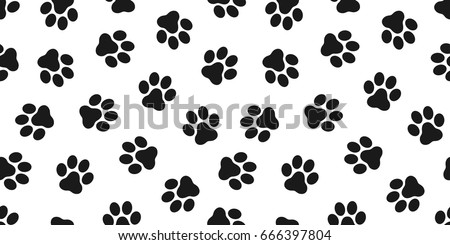 cat paw dog paw kitten vector