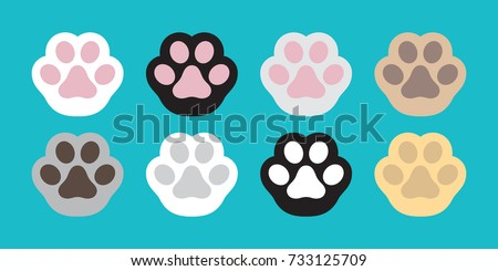 Cat Paw Dog Paw vector icon illustration