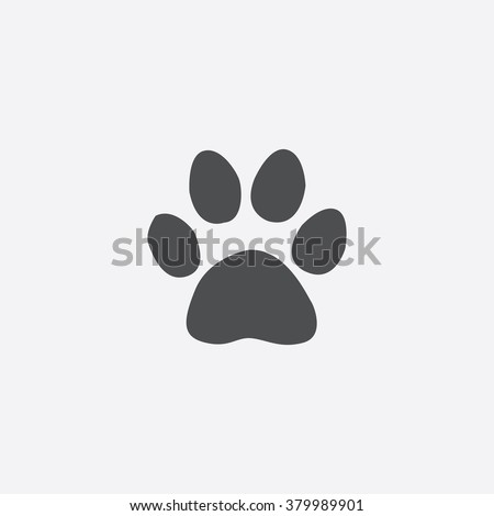 cat paw icon vector cat paw