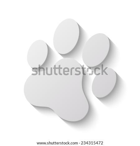 cat paw print vector icon