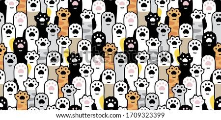 cat paw seamless pattern