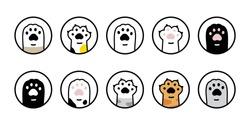 cat paw vector dog icon footprint kitten calico logo dog symbol cartoon character sign illustration doodle design