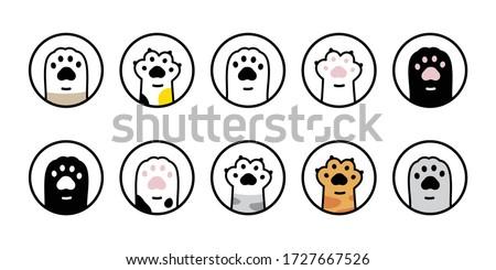 cat paw vector dog icon