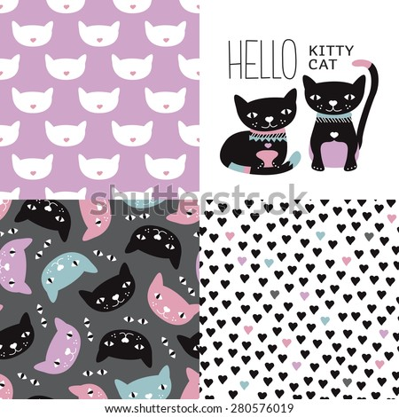 cat postcard cover design and