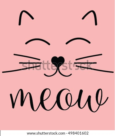cat print cat graphic cat