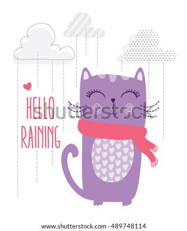 cat print cat graphic cat