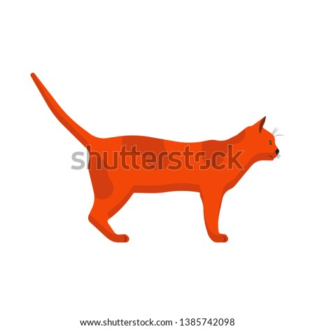 cat side view vector icon