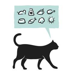 Cat supplies icons set. Vector illustration.