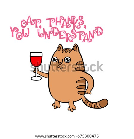 cat  thank you lettering