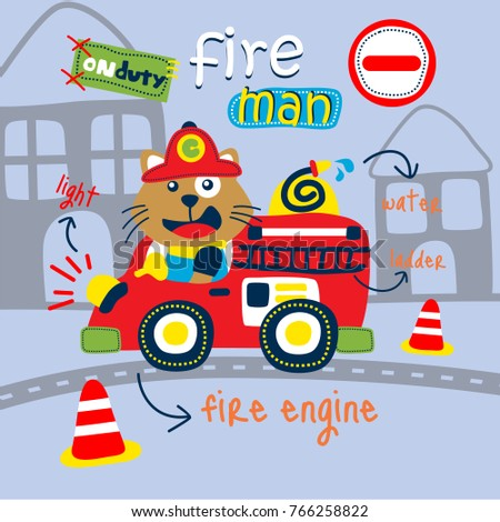 cat the fire rescue funny