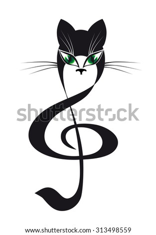 cat treble clef
