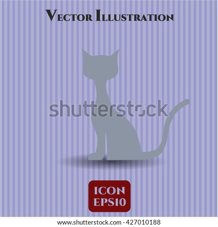 Cat vector icon