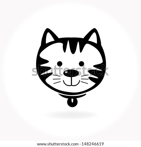 cat vector icon and animal