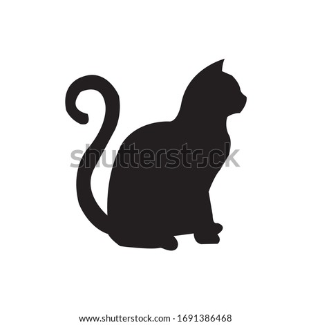 Cat vector icon. Cat silhouette symbol. Linear style sign for mobile concept and web design. House animals symbol logo illustration. vector