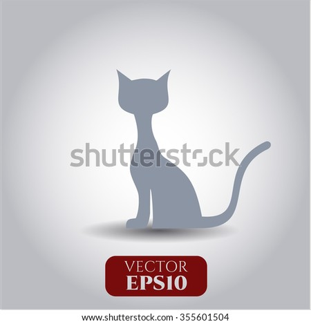 Cat vector icon or symbol