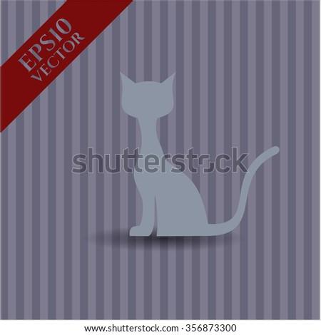Cat vector icon or symbol