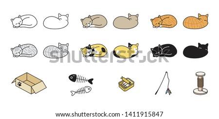 cat vector kitten calico icon