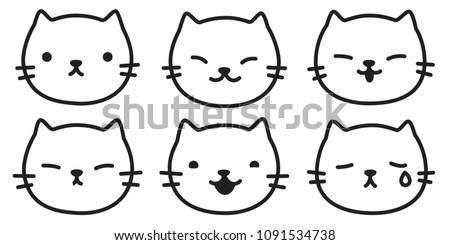 cat vector kitten logo icon illustration character doodle cartoon symbol