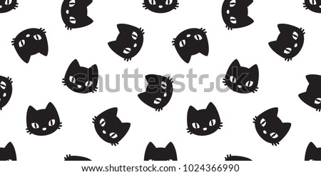 cat vector seamless Pattern Halloween isolated wallpaper background cartoon