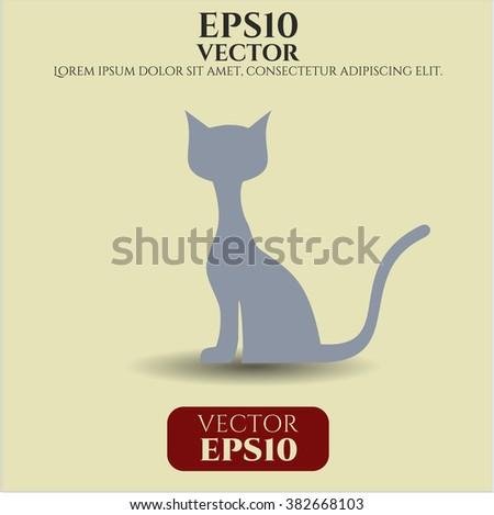 Cat vector symbol