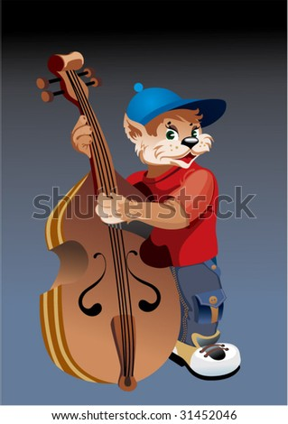 cat with bass viol