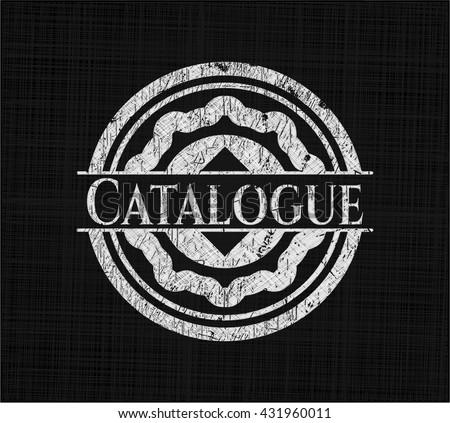 Catalogue chalkboard emblem