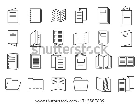 Catalogue icons set. Outline set of catalogue vector icons for web design isolated on white background