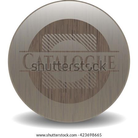 Catalogue retro wood emblem