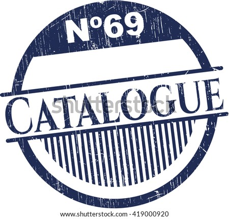 Catalogue rubber stamp with grunge texture