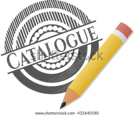 Catalogue with pencil strokes