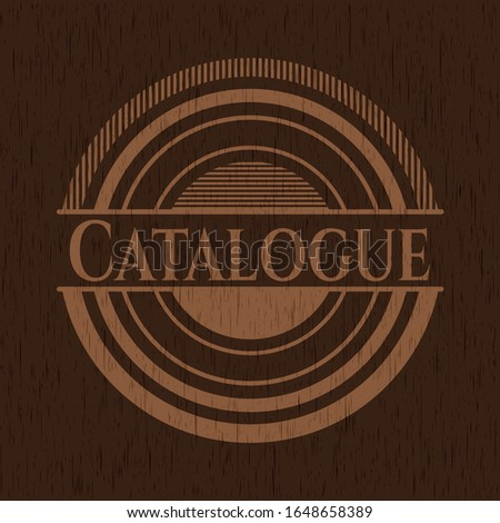 Catalogue wooden signboards. Vector Illustration.