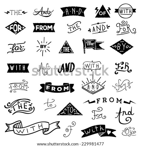 catchwords design elements set