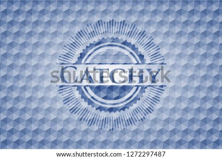 Catchy blue polygonal emblem.