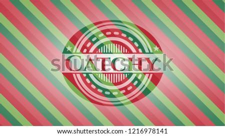 Catchy christmas style emblem.
