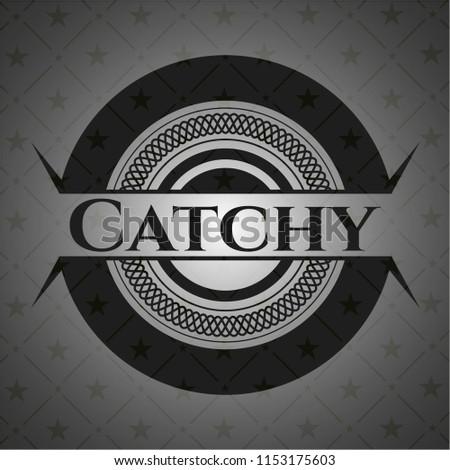 Catchy dark emblem. Retro
