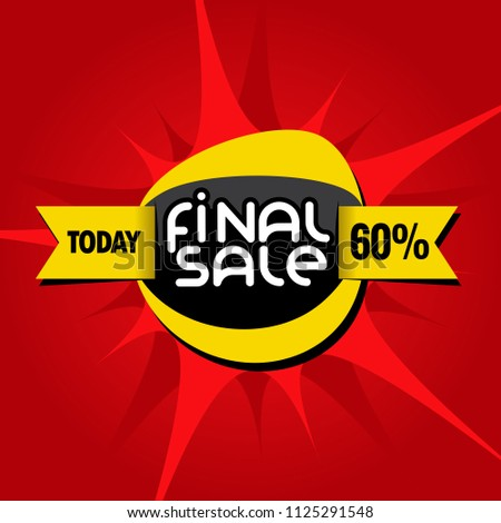 catchy final sale offer icon.