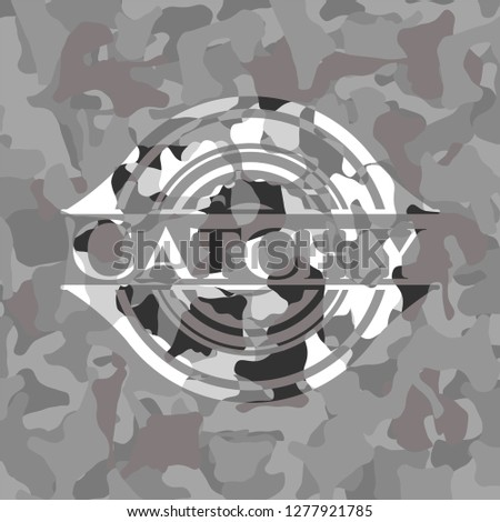 Catchy on grey camouflaged pattern