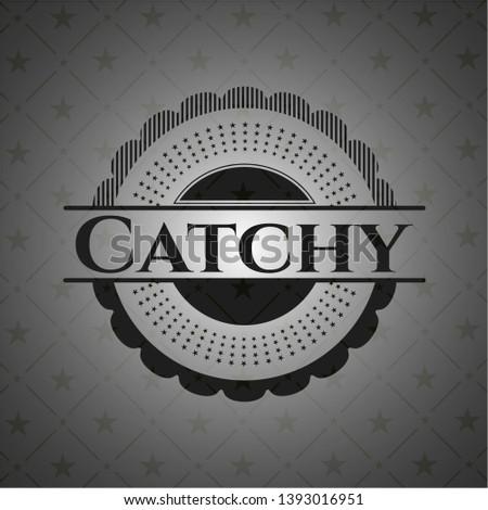 Catchy realistic dark emblem. Vector Illustration. Detailed.